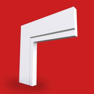 square edge v grooved architrave image