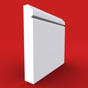 Edge V grooved skirting board