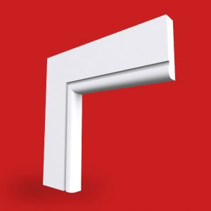 bullnose architrave single square grooved profile