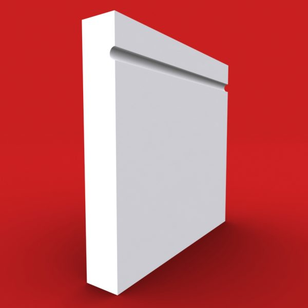 square single c grooved skirting board
