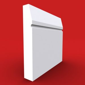 Chamfer Square C Groove skirting board